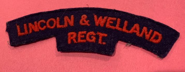 Lincoln and Welland Regiment Wool Shoulder Title
