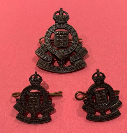 RCAPC Officer Service Dress Cap and Collars Badge set